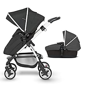 Silver Cross Wayfarer Pushchair and Carrycot, Onyx Cosatto Includes: Chassis,Carrycot,Seat unit,Dock isize Car seat,Car seat adapters,Footmuff,Change bag, Raincover & 4 Year guarantee(UK and Ireland only) Compact fold Telescopic, leatherette handle and Handy one-handed recline. One-hand release carrycot, One-hand adjustable leg rest and Super-sized basket with handy compartments 11