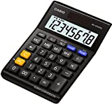 Casio MS-80VERII-BK Euro Tischrechner, 8-stellig, EXTRA BIG LC-Display, schwarz