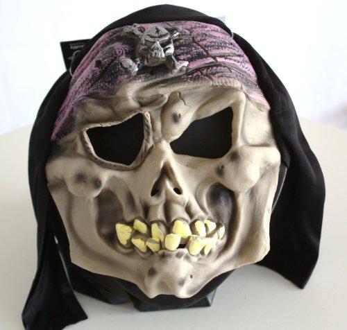 Maske PIRAT / Totenkopf / Totenschädel Halloween, Karneval/Fasching, Horror - für Kinder & kleine Erwachsene oder Dekoration zu Halloween - Real Halloween