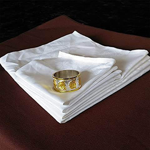 White clean cups napkins/Bowed glass cloth/glass/hotel/Clean cups napkins and Cafe-A 48x48cm(19x19inch)