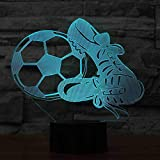 CDBAMX 7 Color Changing Soccer And Shoes Lights 3D Led Atmosphere Football...