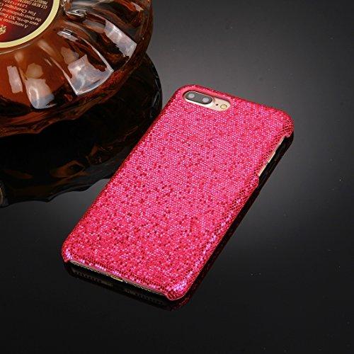 Hülle für iPhone 7 plus , Schutzhülle Für iPhone 7 Plus Twinkling Paillette Beschichtung harten Schutzhülle ,hülle für iPhone 7 plus , case for iphone 7 plus ( Color : Pink ) Magenta