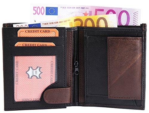 Monopol Herren Geldbörse aus Echtleder, 10 x 12 cm