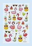 Hobbyfun SOFTY-Sticker Flamingo, Bogen 9,5 x 18 cm
