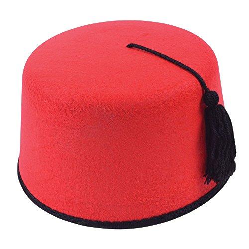 Arabian Kopfbedeckung Kostüm - Bristol Novelty bh178Fez Filz Hat, Unisex, ONE SIZE