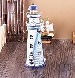 Con la luce del faro in metallo mare in stile mediterraneo artigianato regali decorativi , large (28.5*9.5cm)