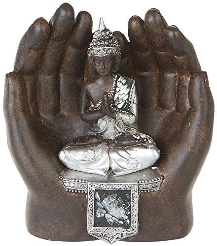 Dekofigur offene Hände Thai Buddha Meditation Esoterik Buddhismus Statue Yoga Feng Shui