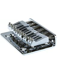 Piezas guitarra ultifit (TM) 65mm Cromo 6 cuerdas de una silla suspensi¨®n delantera del puente de carga superior 65mm Chrome puente de la guitarra de la alta calidad