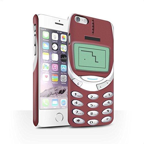 STUFF4 Matte Snap-On Hülle / Case für Apple iPhone 7 Plus / Grünes Nokia 3310 Muster / Vintage Handys Kollektion Rotes Nokia 3310
