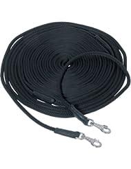 Waldhausen - Cuerda para entrenamiento de caballos con doble rienda negro Talla:16 m