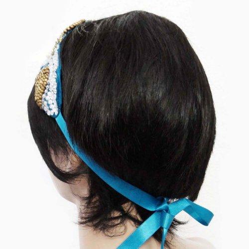 Perlé Ruban Cheveux Bandeau Accessoire De Mode Bande Inde Cadeau De Bijoux Pour Elle blue-2