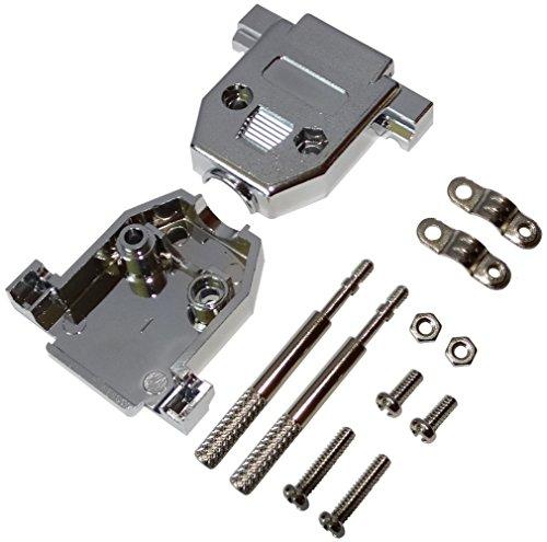 Preisvergleich Produktbild AERZETIX: 2x Vollmetallgehäuse für Steckverbinder 15pin D-Sub oder D-Sub 26-Pin HD