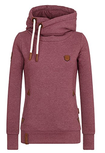 Naketano Female Hoody Darth Bordeaux Melange, L (Sweatshirt Hoody Pullover)