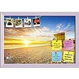 ArtzFolio Miami South Beach Sunrise, USA Printed Bulletin Board Notice Pin Board cum White Framed Painting 17.3 x 12inch