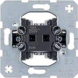 Hager 5036 Pushbutton switch Negro, Metálico interruptor eléctrico - Accesorio cuchillo eléctrico (10 A, Negro, Metálico, 71 mm, 41,6 mm, 71 mm)