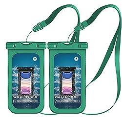 Mpow Wasserdichte Handyhülle 2 Stücke, Handytasche Wasserdicht, Staubdichte Schutzhülle für iPhone 11/iPhone X/XR/XS/XS MAX/8/7/6/6s/6splus/Galaxy S9/S8/S7/S7edge/S6/S/P10/P8/P9 usw. bis 6,5 Zoll