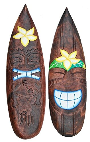 2 Surfboards 60cm Dekoration Tiki Board Hawaii Hawaii Island Fiji