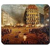 Dresdner Neumarkt maggio rivolta di opere di rivoluzione di Maggio all'estremità attacco barricate 1849 di Dresda Germania Revolution - Tappetino per il mouse per PC portatile #16169 www.kissen tappetino per mouse