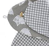 Stillkissenbezug für Stillkissen 190cm in verschiedenen Farben und Designs von HOBEA-Germany, Modell:Eulen grau