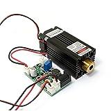 Q-BAIHE 12V 200mW Laser 405nm Violettes/blaues Punkt-Laser-Modul + TTL + Ventilator Kühlen-Arbeiten lang