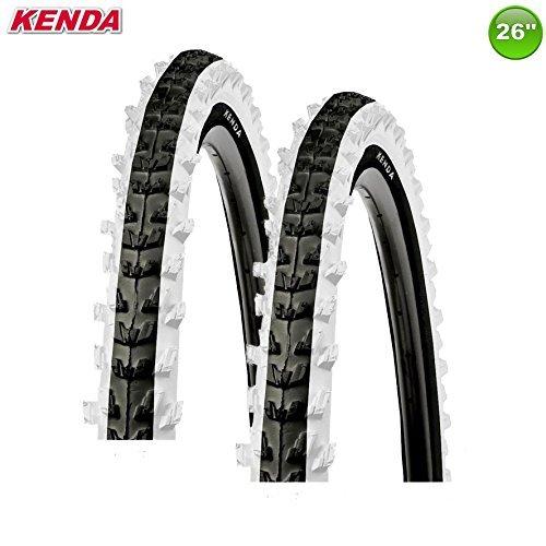 KENDA 2 x K-829 MTB Fahrradreifen Decke Mantel Schwarz/Weiß 26 x 1,95-50-559