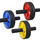 #9: Iso Solid Body Fitness Workout - Ab Roller Ab Wheel Abdominal Workout Roller For Ab Exercises. Cushioned Handles