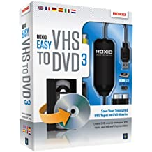 Roxio Easy VHS to DVD 3 Plus - Software de video (2000 MB, 512 MB, 1600 MHz)