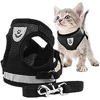 Toulifly Arnés Gato,Arnés para Gatos,Arnés y Correa para Gato,Cat Harness,Cat Vest Harness, Ajustable Respirante Pequeña Chaleco para Cachorros, Perros Pequeños y Gatos (S)