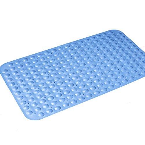LYJ Tapis de bain Salle De Bains Tapis En Plastique Antidérapants / PVC Pied / Douche Tapis De Sol ( Multicolores Facultatif) Séchage rapide ( Couleur : Bleu , taille : 49*49cm )