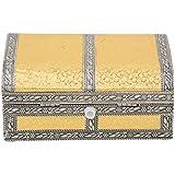 Shubh Dry Fruit Box, Serving Tray, Decorative Platter, Beautiful Snack Box With Meenakari Work(09 Half Round Dry Fruit Box)