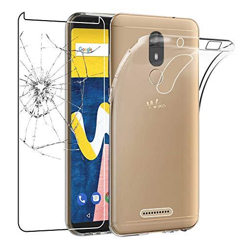 ebestStar - Wiko View Lite Hülle Handyhülle [Ultra Dünn], Premium Durchsichtige Klar TPU Schutzhülle, Soft Flex Silikon, Transparent + Panzerglas SchutzfolieGlas [Phone: 148.4 x 70.7 x 8.5mm, 5.45'']