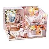 CUTEROOM Casa de muñecas en Miniatura con Muebles, Juguetes de Madera...