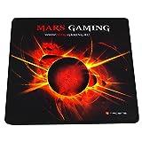 Mars Gaming MMP0 - Alfombrilla de ratón gaming (alta precisión con cualquier ratón, base de caucho natural, alta comodidad, caucho, universal, 20 x 22 cm), color color negro y rojo