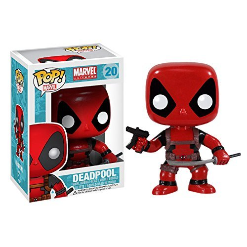 Deadpool Marvel Mini Funko Wackelkopf Figur Pop Sammel Nr. 20 Superheld Bobble Head Vinyl in Geschenk Box