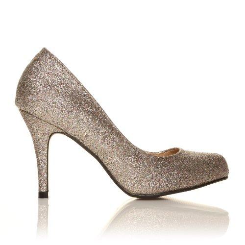 ShuWish UK , Damen Pumps Multi Glitter (Multi Glitter)