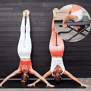 Zexa Yoga Headstand Bench - Stehen Yoga-Stuhl für Familie, Fitnessstudio - Holz- und PU-Pads - Müdigkeit abbauen und Körper aufbauen
