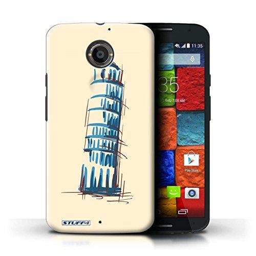 Kobalt® Imprimé Etui / Coque pour Motorola Moto X (2014) / La porte de Torii/Japon conception / Série Monuments La Tour penchée de Pise