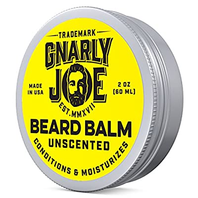 Gnarly Joe Unscented Beard Balm | Leave-In Wax Softener & Conditioner for Men | Tames Facial Hair Growth | Best Shaper & Mens Beard Relaxer (60ml)