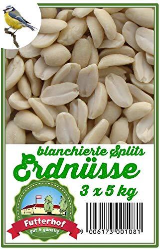 Futterhof Erdnusskerne blanchierte Splits 3 x 5 kg = 15 kg
