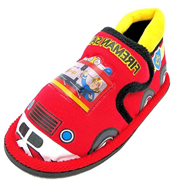 Size 5 Fireman Sam Boy's Baker Textile Slippers