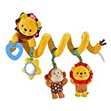 Singring Baby Pram Crib Cute Lion Design Activity Spiral Plush Toys Stroller and Travel Activity Toy