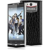 UHANS U100 4.7'' IPS Android 5.1 2GB/16GB Dual SIM Unlocked 4G Smartphone -- MT6735P Quad Cores HD 1280*720 Multitouch SIM-Free 3G Cellphone 5MP 13MP Dual Cameras WIFI GPS Unique Leather Backcover