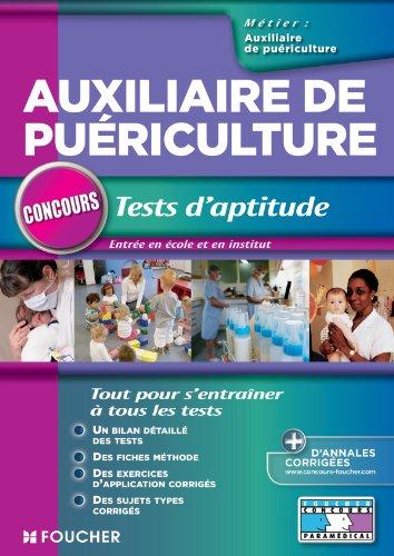 Auxiliaire de puériculture Tests d'aptitude par Valérie Beal