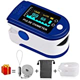 kungfuren Finger Pulse Oximeter, Family Health Care Blood Oxygen Saturation Monitor, Oximeter Finger Automatic Shutdown and Fast Reading OLED-Display + Carrying Bag, Lanyard