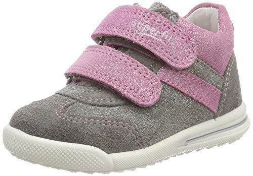 Superfit Baby Mädchen Avrile Mini Sneaker, Grau (Hellgrau/Rosa, 25 EU