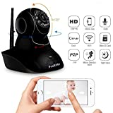 #2: ProElite IP01A WiFi Wireless HD IP Security Camera CCTV [Watch LIVE Demo] (supports upto 128 GB SD card) [Dual Antenna], Black