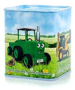 Tractor Ted Money Tin Metal Piggy Bank for Children with Removable Base