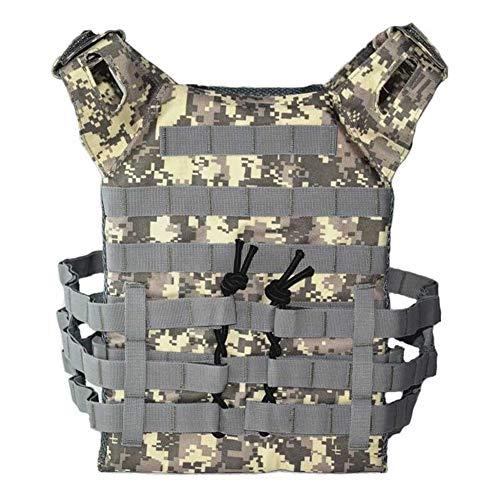 Jagd Tactical Body Armor Plate Träger Weste Outdoor CS Spiel Paintball Airsoft Weste Militärische Ausrüstung (Color : ACU, Size : One Size) -