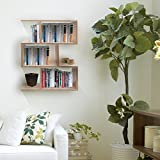#6: Klaxon Home Decor Wooden Wall Shelves / Book Shelf And Storage Wall Shelves- (Beige,Matte Finish) (Do It Yourself – DIY)