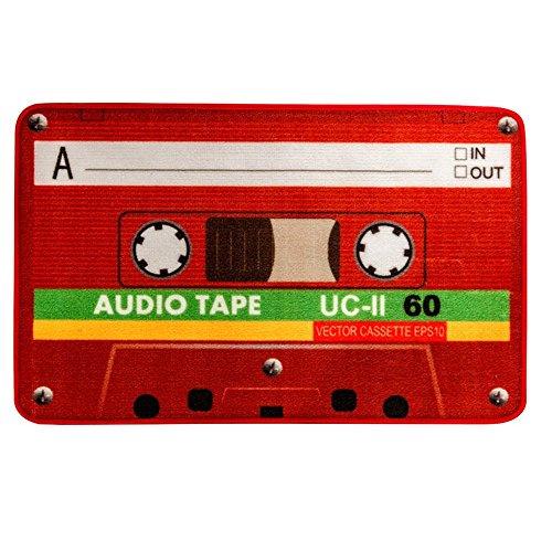 Lovefaye vintage Red cassette zerbino divertente audio tape Welcome tappetino per ingresso porta cucina tappeto 38,1x 58,4cm